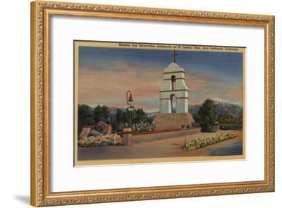 Redlands, California - Mission San Bernardino Asistencia-Lantern Press-Framed Art Print