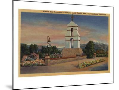 Redlands, California - Mission San Bernardino Asistencia-Lantern Press-Mounted Art Print