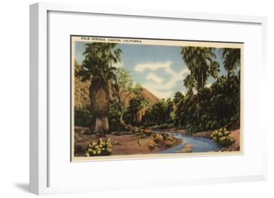 Palm Springs, California - View of Palm Springs Canyon-Lantern Press-Framed Art Print