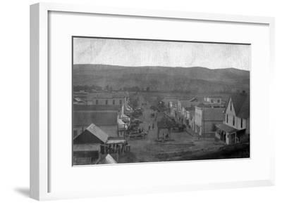 Paris, Texas - Aerial View of Town-Lantern Press-Framed Art Print