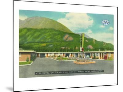 North Bend, Washington - Exterior View of the Mt. Si Motel-Lantern Press-Mounted Art Print