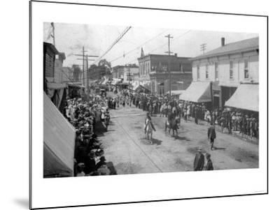 Lebanon, Oregon - View of a City Parade-Lantern Press-Mounted Art Print
