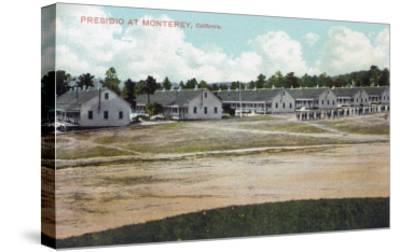 Monterey, California - View of the Presidio Grounds-Lantern Press-Stretched Canvas Print