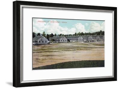 Monterey, California - View of the Presidio Grounds-Lantern Press-Framed Art Print