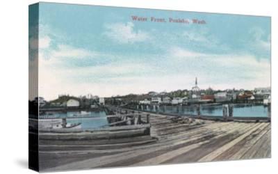 Poulsbo, Washington - View of the Waterfront-Lantern Press-Stretched Canvas Print