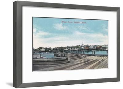 Poulsbo, Washington - View of the Waterfront-Lantern Press-Framed Art Print