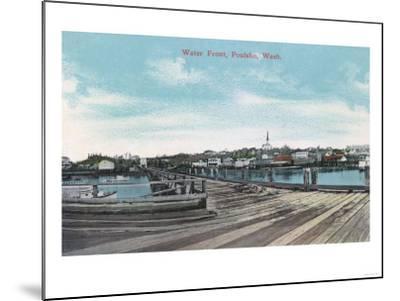 Poulsbo, Washington - View of the Waterfront-Lantern Press-Mounted Art Print