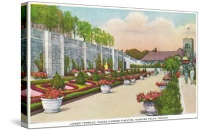 Niagara Falls, Canada - Oakes Garden Theatre Lower Terrace-Lantern Press-Stretched Canvas Print