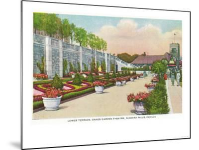Niagara Falls, Canada - Oakes Garden Theatre Lower Terrace-Lantern Press-Mounted Art Print