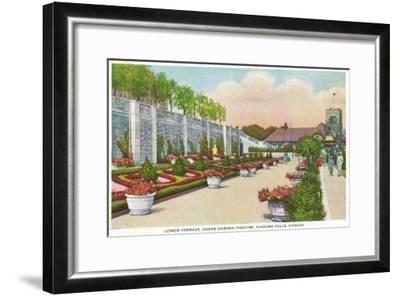 Niagara Falls, Canada - Oakes Garden Theatre Lower Terrace-Lantern Press-Framed Art Print