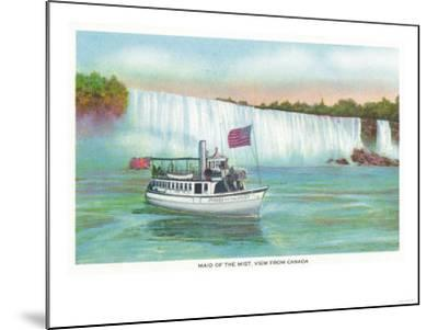 Niagara Falls, Canada - View of Maid of the Mist Boat-Lantern Press-Mounted Art Print