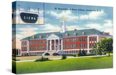 Loudonville, New York - Exterior View of St. Bernardine of Siena College-Lantern Press-Stretched Canvas Print