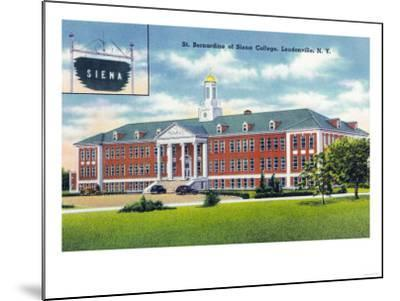 Loudonville, New York - Exterior View of St. Bernardine of Siena College-Lantern Press-Mounted Art Print