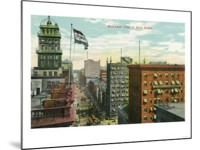 Rochester, New York - Aerial View of Main Street-Lantern Press-Mounted Art Print