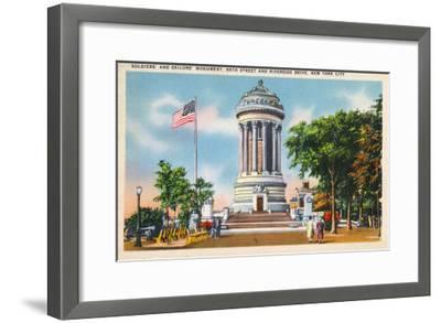 NYC, New York - 89th St & Riverside Drive Soldiers' & Sailors' Monument-Lantern Press-Framed Art Print