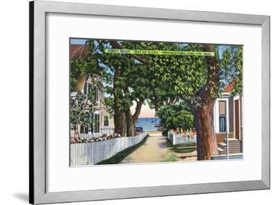 Provincetown, Massachusetts - Street Scene of Residences-Lantern Press-Framed Art Print