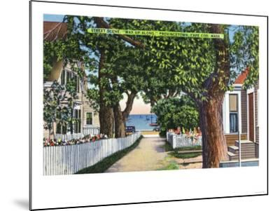 Provincetown, Massachusetts - Street Scene of Residences-Lantern Press-Mounted Art Print