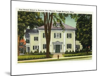 Lexington, Massachusetts - View of the 1st Normal School in America-Lantern Press-Mounted Art Print