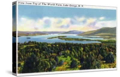 Lake George, New York - Top of the World Farm View of the Lake-Lantern Press-Stretched Canvas Print