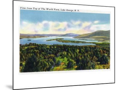 Lake George, New York - Top of the World Farm View of the Lake-Lantern Press-Mounted Art Print