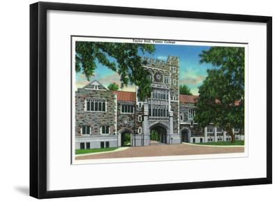 Poughkeepsie, New York - Exterior View of Taylor Hall, Vassar College-Lantern Press-Framed Art Print