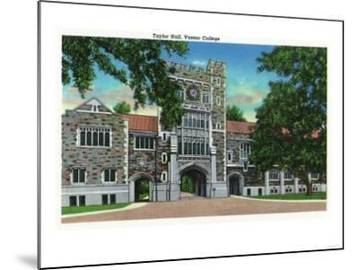 Poughkeepsie, New York - Exterior View of Taylor Hall, Vassar College-Lantern Press-Mounted Art Print