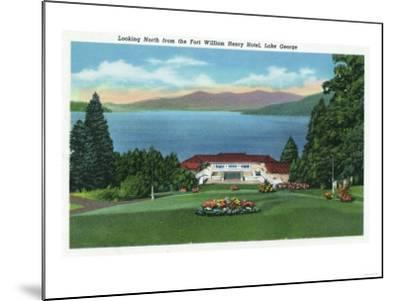 Lake George, New York - Northern View of Lake from Ft William Henry Hotel-Lantern Press-Mounted Art Print