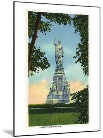 Plymouth, Massachusetts - View of the Forefathers Monument No. 2-Lantern Press-Mounted Art Print