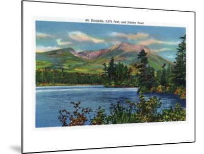Maine - View of Mount Katahdin and Daicey Pond-Lantern Press-Mounted Art Print