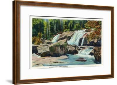 North Conway, New Hampshire - View of Diana's Bath-Lantern Press-Framed Art Print
