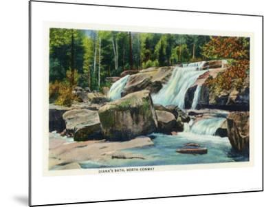 North Conway, New Hampshire - View of Diana's Bath-Lantern Press-Mounted Art Print