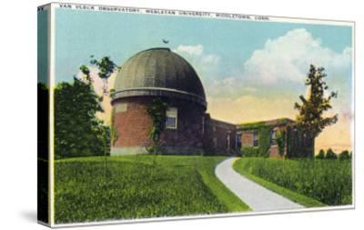 Middletown, Connecticut - Exterior View of Van Vleck Observatory, Wesleyan U-Lantern Press-Stretched Canvas Print