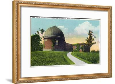 Middletown, Connecticut - Exterior View of Van Vleck Observatory, Wesleyan U-Lantern Press-Framed Art Print