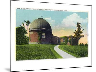 Middletown, Connecticut - Exterior View of Van Vleck Observatory, Wesleyan U-Lantern Press-Mounted Art Print