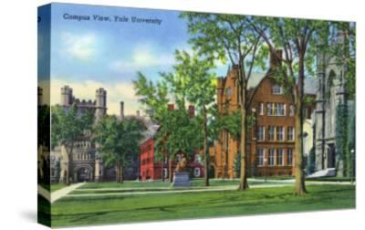 New Haven, Connecticut - Yale University Campus View-Lantern Press-Stretched Canvas Print