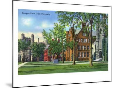 New Haven, Connecticut - Yale University Campus View-Lantern Press-Mounted Art Print