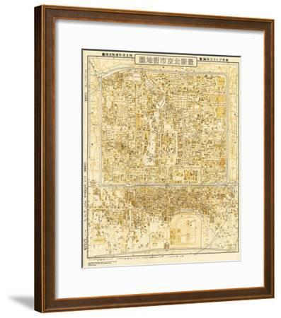 Peking, China - Panoramic Map-Lantern Press-Framed Art Print