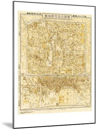 Peking, China - Panoramic Map-Lantern Press-Mounted Art Print