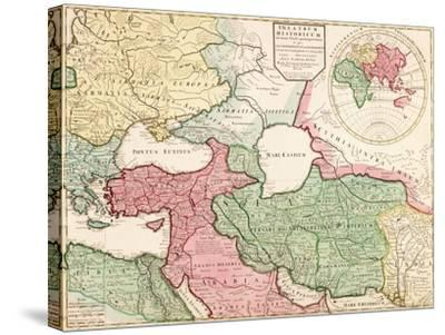 Middle East - Panoramic Map-Lantern Press-Stretched Canvas Print