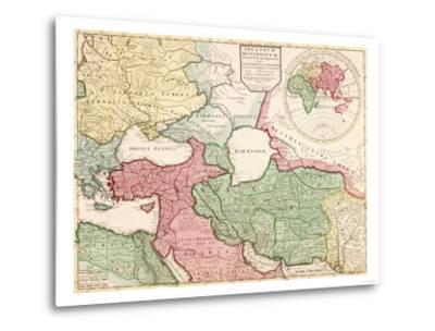 Middle East - Panoramic Map-Lantern Press-Metal Print