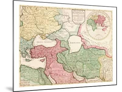 Middle East - Panoramic Map-Lantern Press-Mounted Art Print