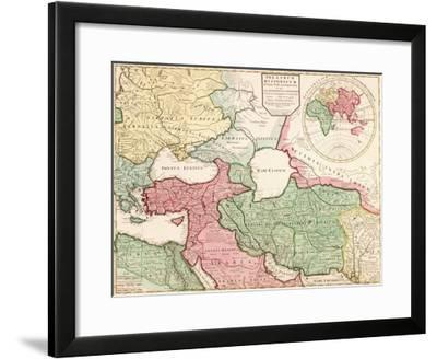 Middle East - Panoramic Map-Lantern Press-Framed Art Print