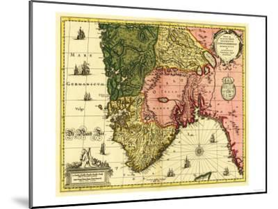 Norway - Panoramic Map-Lantern Press-Mounted Art Print