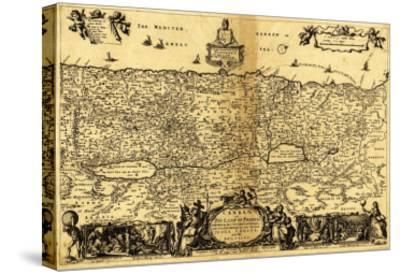 Palestine - Panoramic Map-Lantern Press-Stretched Canvas Print
