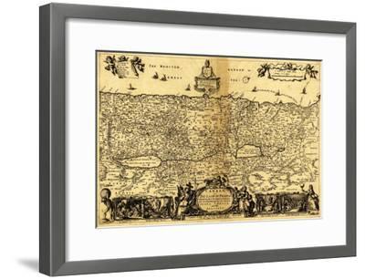 Palestine - Panoramic Map-Lantern Press-Framed Art Print