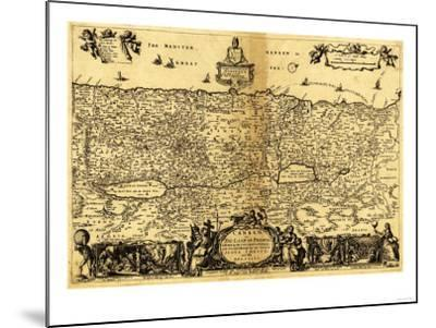 Palestine - Panoramic Map-Lantern Press-Mounted Art Print