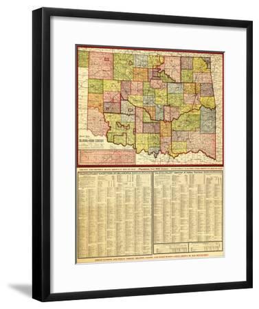 Oklahoma - Panoramic Map-Lantern Press-Framed Art Print