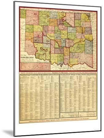 Oklahoma - Panoramic Map-Lantern Press-Mounted Art Print