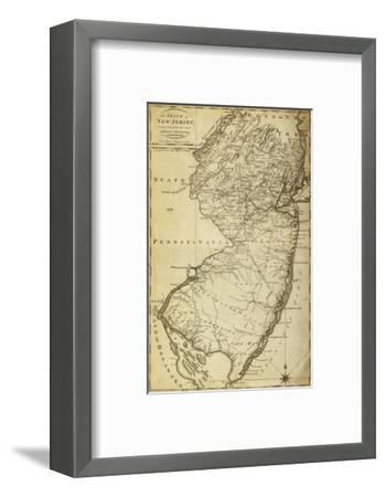New Jersey - Panoramic Map-Lantern Press-Framed Art Print