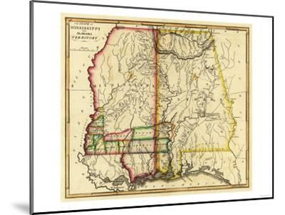 Mississippi and Alabama - Panoramic Map-Lantern Press-Mounted Art Print